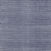 "Dash & Albert Baumwollteppich ""Herringbone"" (dunkelblau)"