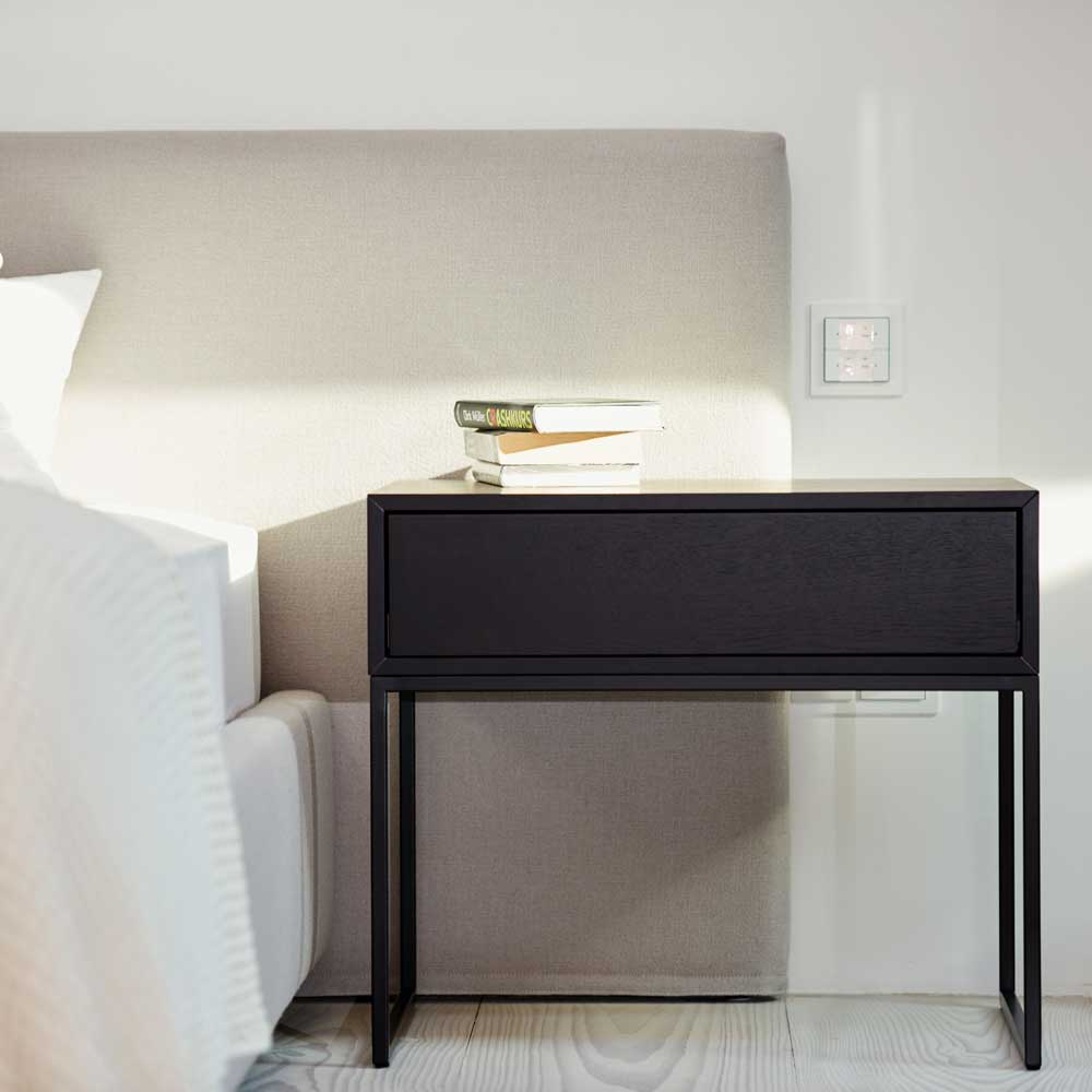 nachttisch in schwarz braun online bei. Black Bedroom Furniture Sets. Home Design Ideas