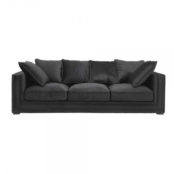 """Schwarzes Sofa """"Menorca"""" von Eichholtz"""