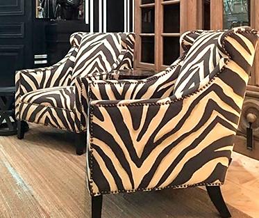 """EICHHOLTZ Sessel """"Zebra"""" (schwarz-weiß)"""