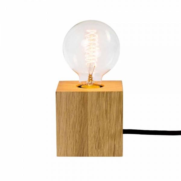 """Tischlampe """"Quader Leuchte"""" von Raumgestalt - mit Eiche"""