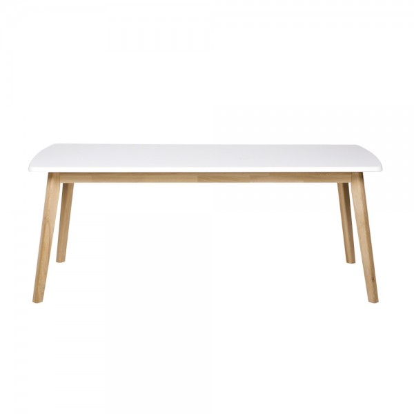 """Esstisch """"Eik"""" - mit weißer Tischplatte"""