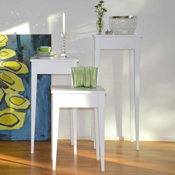Weißer Beistelltisch aus Holz - von jankurtz Designermöbel