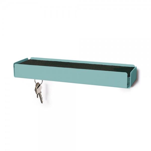 "Schlüsselbrett ""Key""  - aus türkisem Stahl"