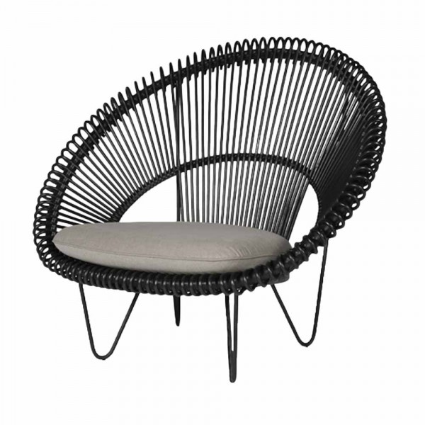 "Loungesessel ""Roy Cocoon"" in Schwarz"