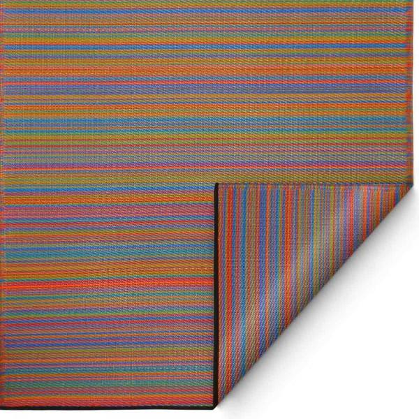 """Kunststoffteppich """"Canaria"""" in Orange-Blau"""