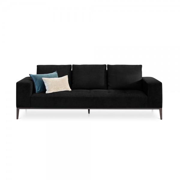 "Schwarzes Samt-Sofa ""Michigan"""