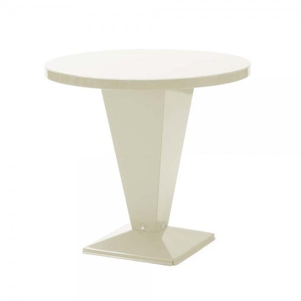 """Tolix Bistrotisch """"Table Kub"""" aus glänzendem, beigem Stahl"""