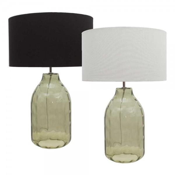 """Tischlampe """"Kobe"""" mit grünem Glasfuß"""