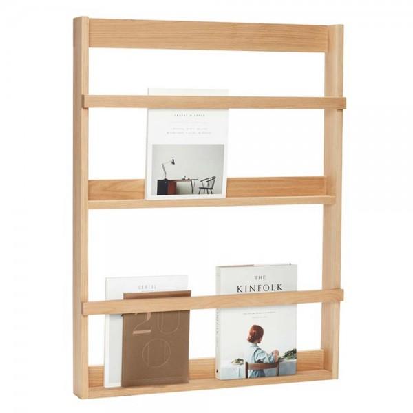 schmales wandregal aus eiche. Black Bedroom Furniture Sets. Home Design Ideas