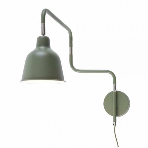 """Olivfarbene Wandlampe """"Metro"""""""