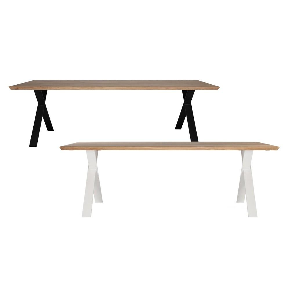 Esstisch Holzplatte Weie Beine. Esstisch Holz Weiss X Beinen Platte ...