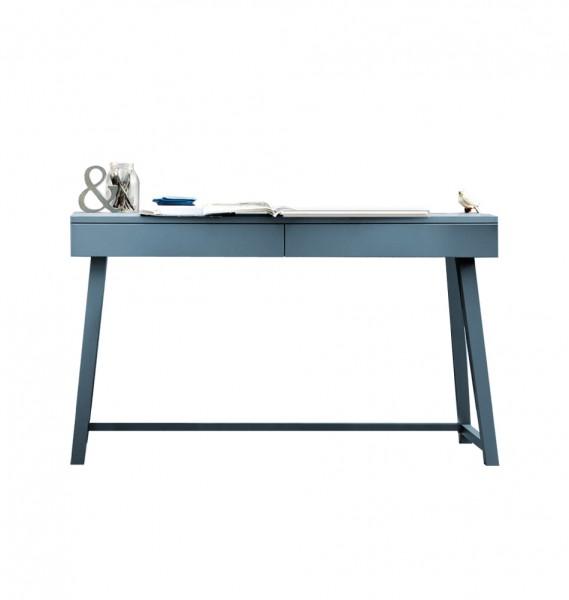 """GERVASONI Schreibtisch """"Gray 50"""" aus blauem Holz"""