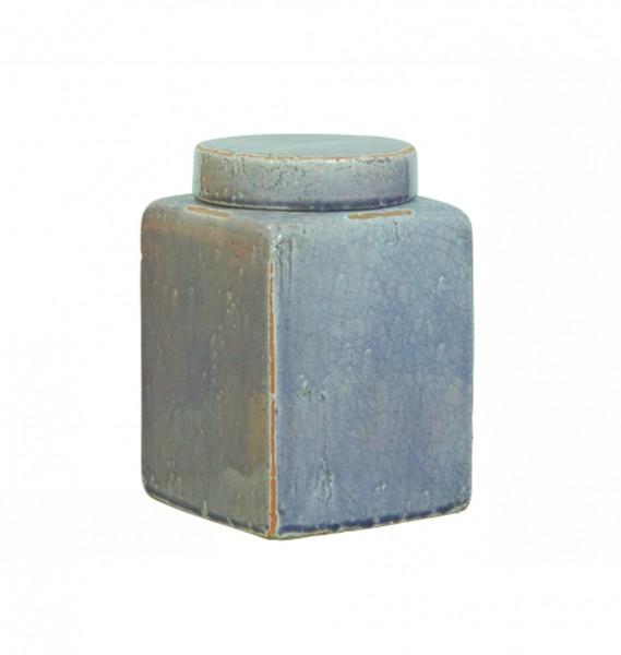 """Deckelvase """"Cube"""" Keramik - im Asia Stil"""