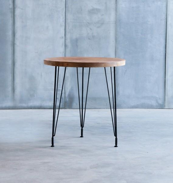 """HEERENHUIS Beistelltisch """"Sputnik"""" aus Teak und Metall - runder Tisch"""