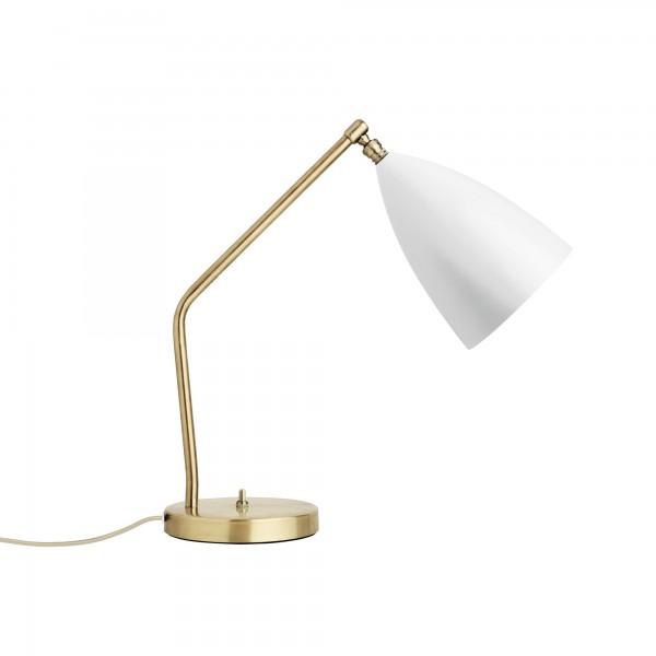Weiße Tischlampe Gräshoppa von GUBI