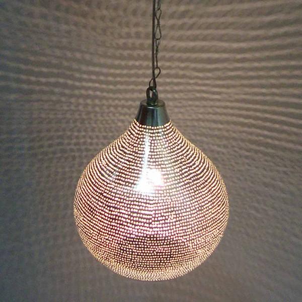 """Orientalische Lampe """"Gulna"""" aus Kupfer - mit Silber"""