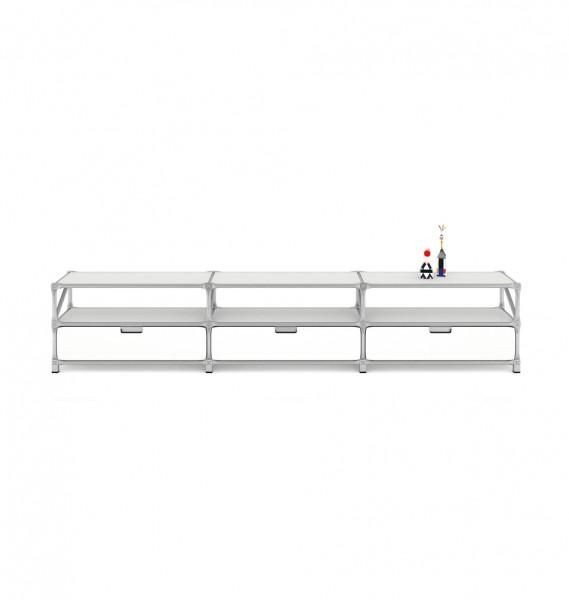 """weißes Lowboard """"Fusion"""" von System 180 - Design & Funktionalität"""