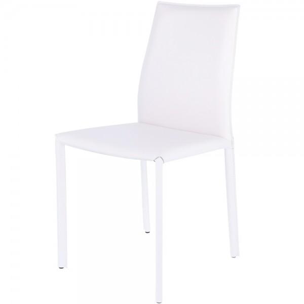 """Weißer Lederstuhl """"Anado"""" von jankurtz"""