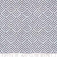 """liv interior Baumwollteppich """"Palm"""" (grau-eisblau) 70 x 200 cm"""