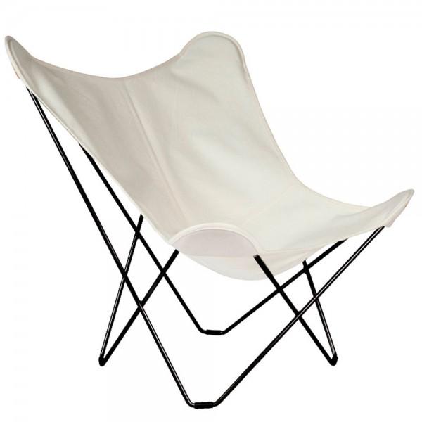 """Weißer Outdoor-Loungestuhl """"Sunshine Mariposa"""" von Cuero"""