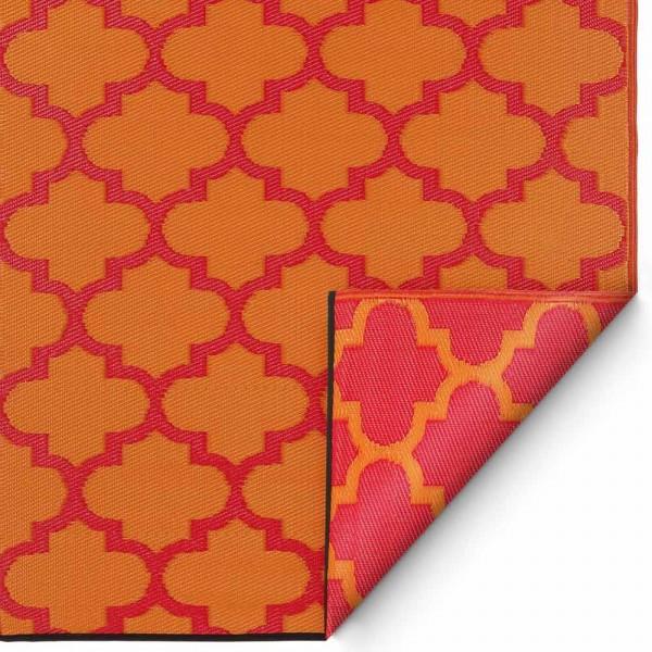 "Kunststoffteppich ""Tangier"" in Orange-Rot"