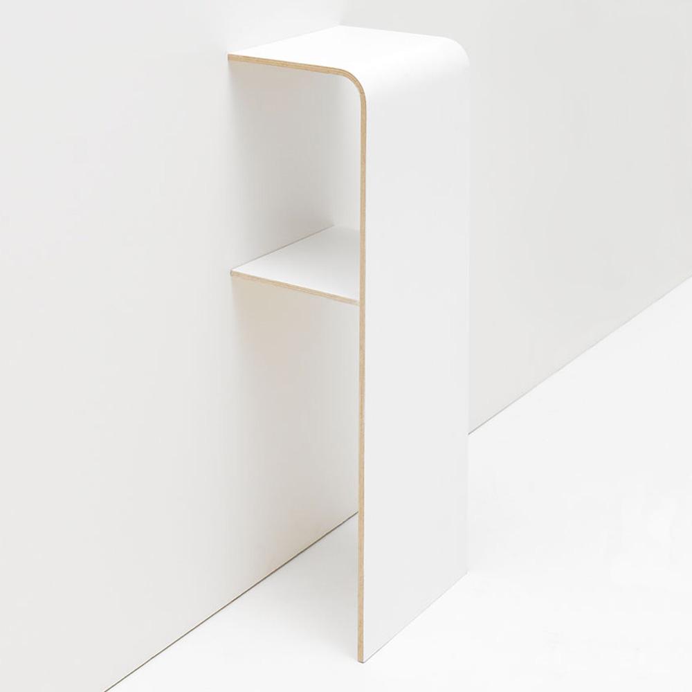 tojo ablage k stchen haru kleines wei es regal. Black Bedroom Furniture Sets. Home Design Ideas