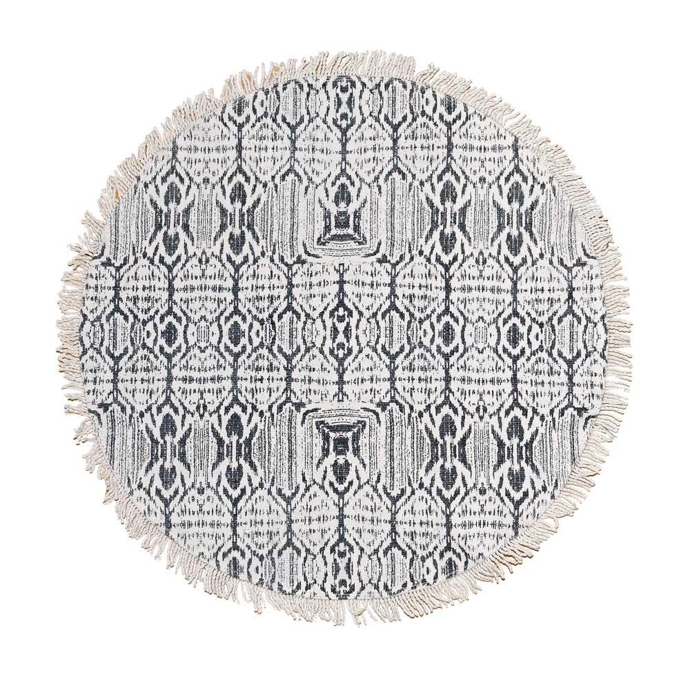 """liv interior Teppich """"Ikat""""  runder Baumwollteppich"""