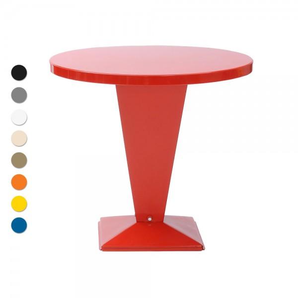 """Tolix Bistrotisch """"Table Kub"""" aus glänzendem Stahl"""