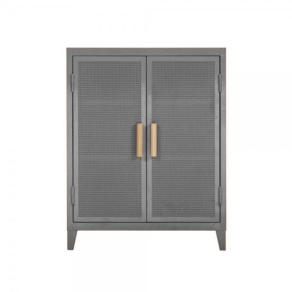 """Tolix Sideboard """"B2 bas perforé"""" aus Stahl - in Grau"""