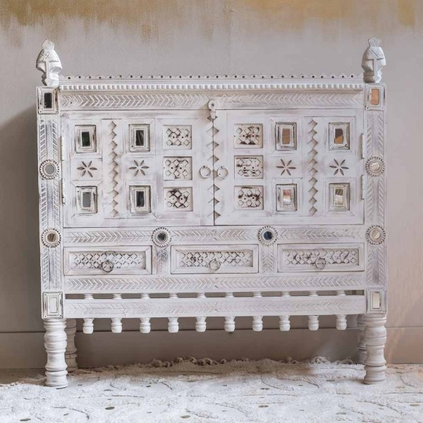 "Sideboard ""Gaya"" aus weißem Holz"