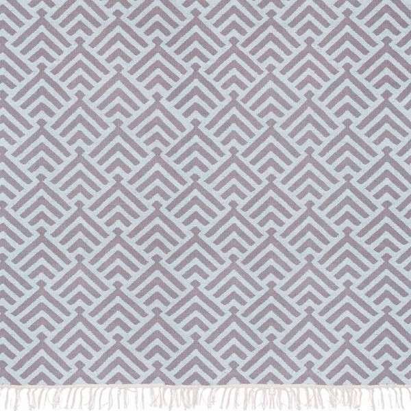 "liv interior Teppich ""Palm"" - in Grau und Eisblau"