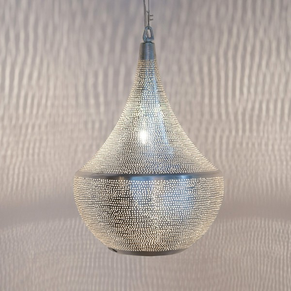 "Orientalische Lampe ""Bellsky"" aus versilbertem Messing"