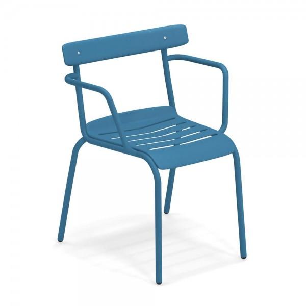"""Armlehnstuhl """"Miky"""" von EMU in Blau"""