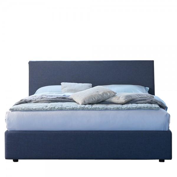 Designer Boxspringbett in Blau