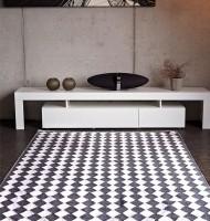Teppiche im landhausstil rustikale teppiche - Baumwollteppich schwarz weiay ...