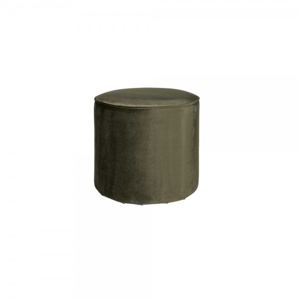 "Samt-Pouf ""Solina"" - in Olive"
