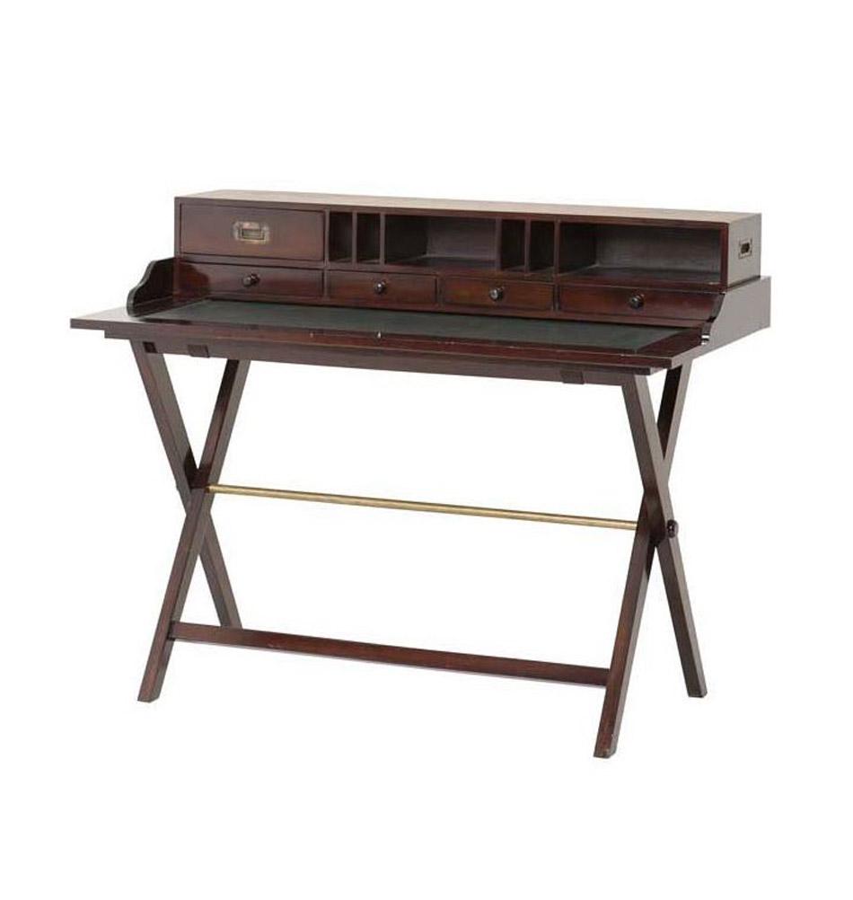 holzschreibtisch sekret r m bel im kolonialstil. Black Bedroom Furniture Sets. Home Design Ideas