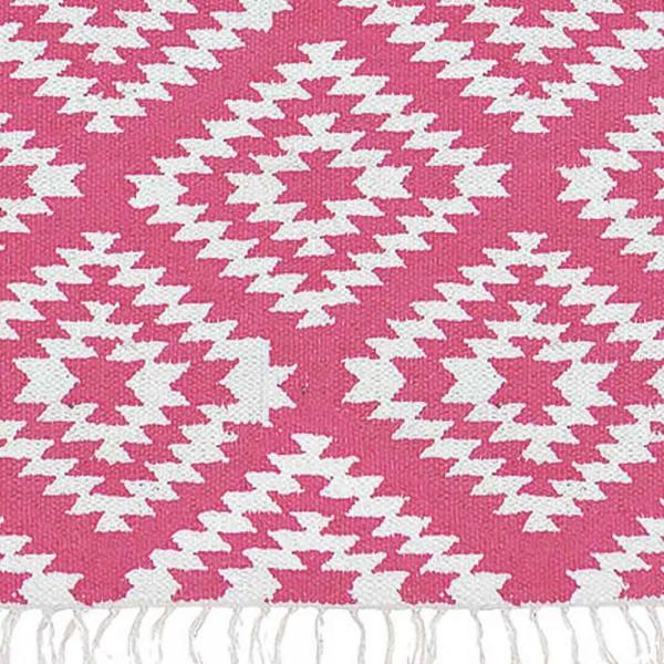 """Baumwollteppich """"Apache"""" in Pink und Weiß"""