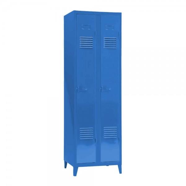 "Tolix Spindschrank ""B2"" aus glänzendem, blauem Metall"