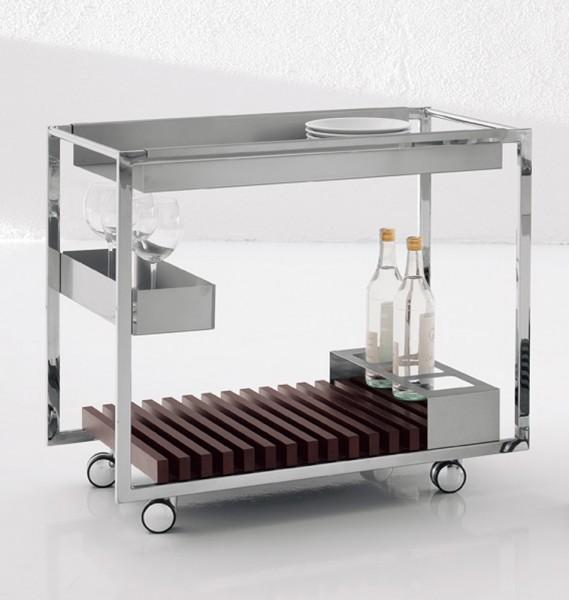 servierwagen mojito exklusives design von cattelan italia. Black Bedroom Furniture Sets. Home Design Ideas