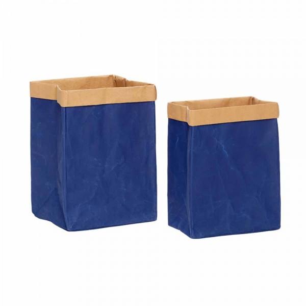 """Braun-blaue Wäschebox """"Tovi"""""""