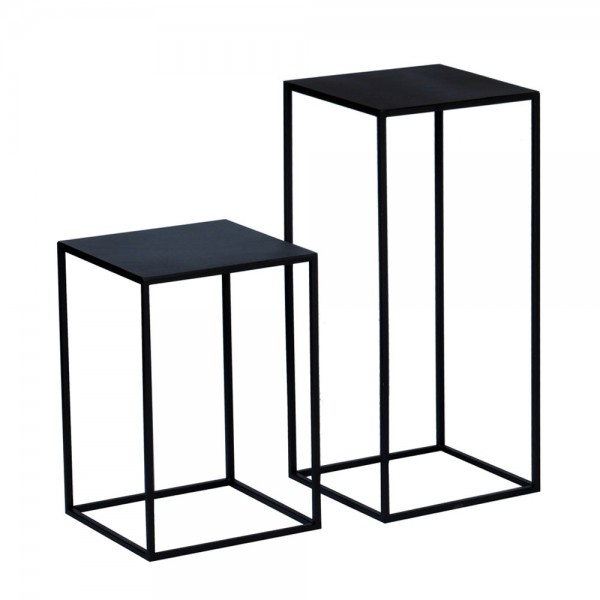 beistelltisch lili aus eisen in schwarzbraun. Black Bedroom Furniture Sets. Home Design Ideas