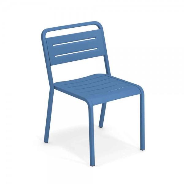 """Gartenstuhl """"Urban"""" aus blauem Metall"""