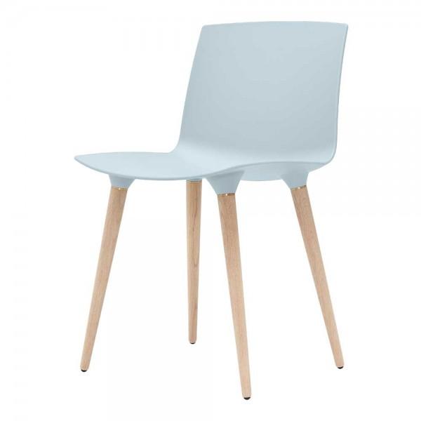 """""""The Andersen Chair"""" - Esszimmerstuhl in Hellblau, Beine in Natur"""