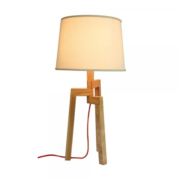 "Tischlampe ""Luno"" Holz"