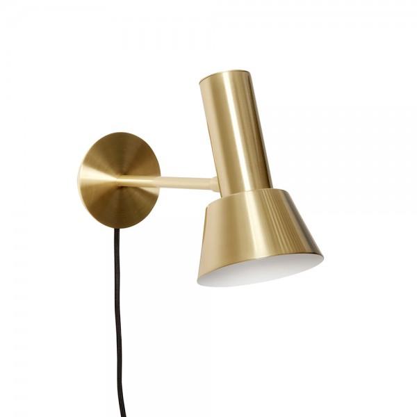 """Wandlampe """"Keld"""" von Hübsch interior - aus Metall in Gold"""