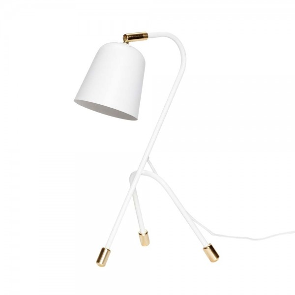 """Tischlampe """"Birger"""" von Hübsch interior - aus weißem Metall"""