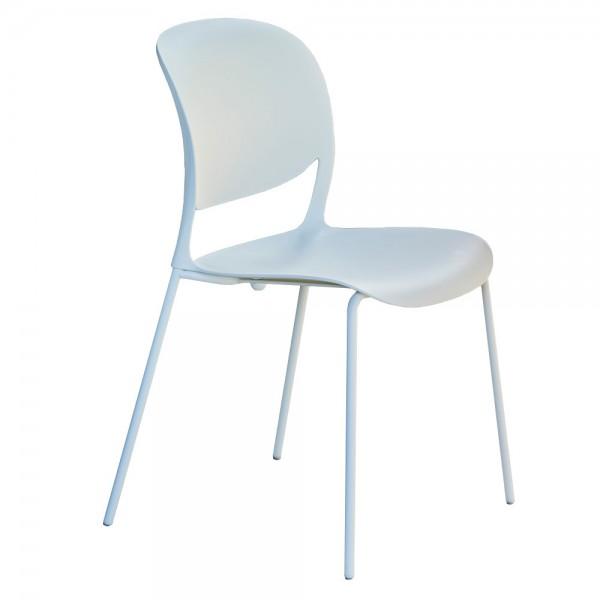 """Weißer Designerstuhl """"Smile"""" - stapelbarer Stuhl von jankurtz"""