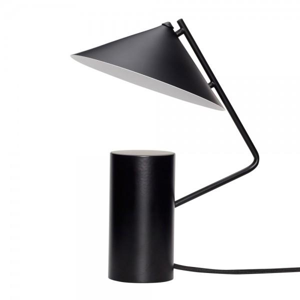 """Tischlampe """"Pernille"""" von Hübsch interior - aus schwarzem Metall"""